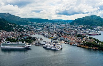 BERGEN - THE GATEWAY TO THE FJORDS OF NORWAY - THE NUMBER ONE NORWEGIAN PORT OF CALL