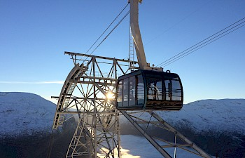 New product in Nordfjord - Cable car from the fjord to the mountaintop in the blink of an eye