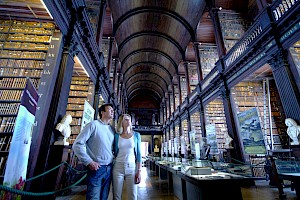 The Book of Kells is the centrepiece of an exhibition which attracts over 500,000 visitors to Trinity College in Dublin City each year. It is Ireland's greatest cultural treasure and the world's most famous medieval manuscript.