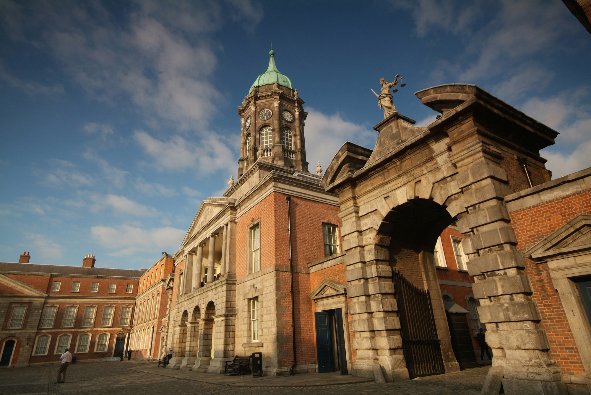 Dublin Castle is the heart of historic Dublin and is where the city gets its name from the Black Pool - 'Dubh Linn' which was on the site of the present Castle garden. The Castle houses the magnificent State Apartments part of the Viceregal court.