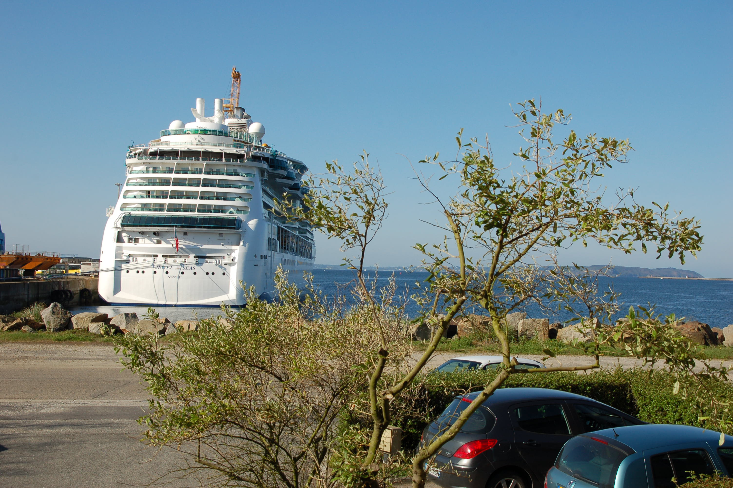 Cruise call in the port of Brest