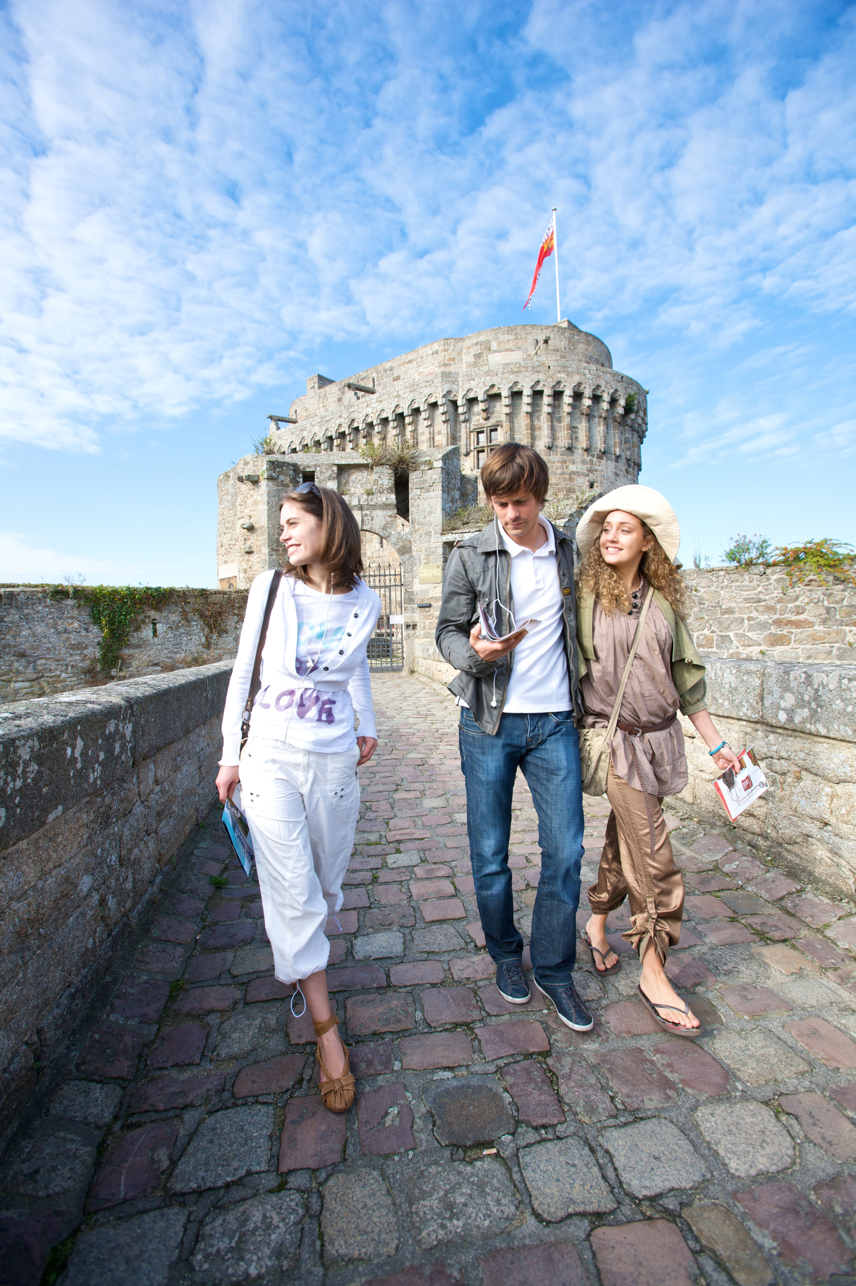 Begin the exploration of Saint-Malo by walking the town wall taking in the views of the city and sea on either side.