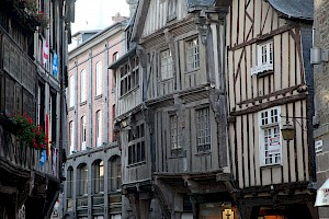 The medieval town full of half timbered buildings dating from the 13th and 14th centuries, with cobbled rambling streets all carefully restored and preserved.