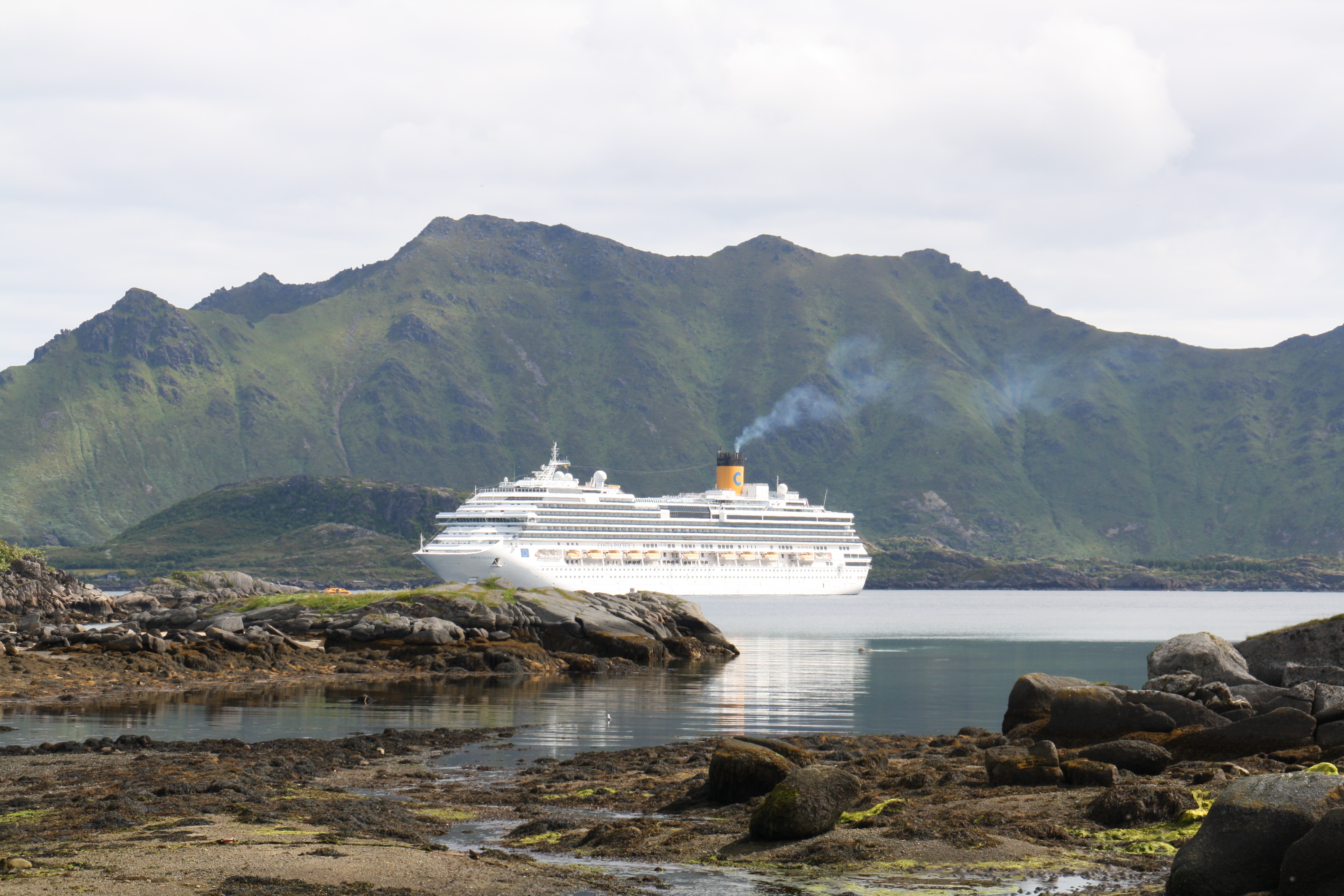 Costa pacifica at Leknes harbour