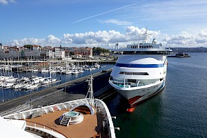 A Coruña received 7 cruise ships last week