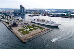 Gdynia's Pomorskie Quay is open to cruiseships once again