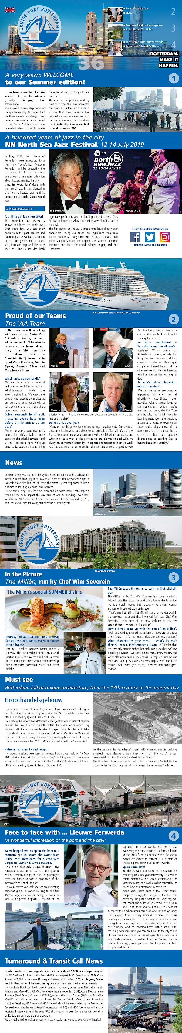 Cruise Port Rotterdam Newsletter Summer 2019