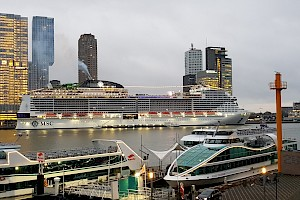 MSC Grandiosa. Her first visit to Rotterdam