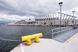 Tallinn's new environmentally friendly cruise terminal has reached its design height