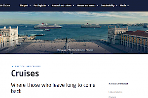 Port of Lisbon Authority new website